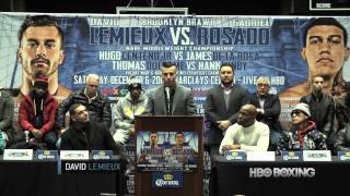 Hbo Boxing: Lemieux And Rosado Press Conference