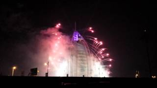 Amazing Fire Works In Dubai ! Burj Al Arab