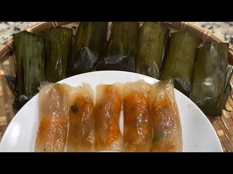 Bánh bột lọc gói lá ngon, hấp dẫn- (ENG SUB) How to make clear shrimp and pork dumplings.