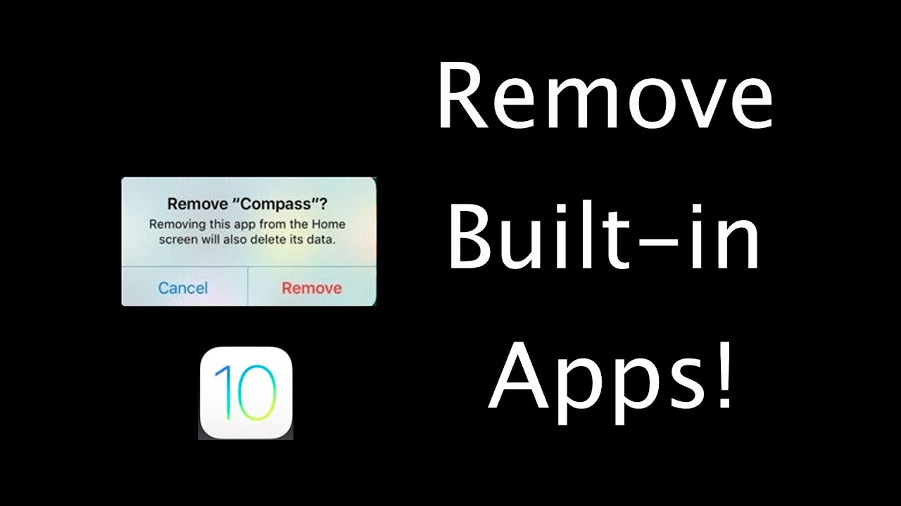 How To Delete Apples Preinstalled Apps In Ios 10