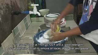 manual dishwashing
