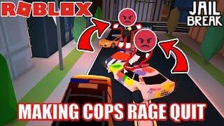 MAKING COPS RAGE QUIT!!! | Roblox Jailbreak
