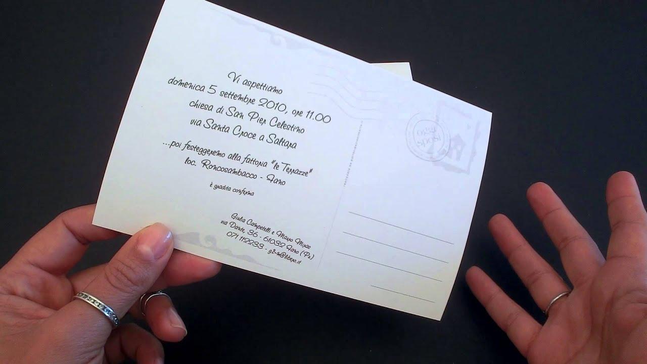 Partecipazione nozze Cartolina - YouTube