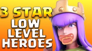 3 x Type of TH9 3 Star Attack Strategy using LOW LEVEL Heroes   Clash of Clans