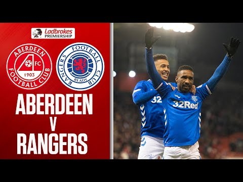 Highlights Rangers 4-2 Aberdeen. Red cards, goals, heavy challenges and a better atmosphere than any EPL game