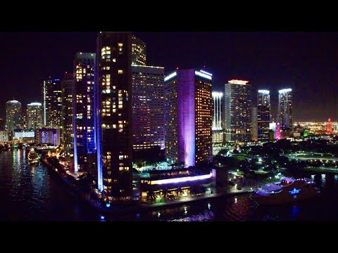 Awesome MIAMI, Florida at Night - Aerial 4K Drone