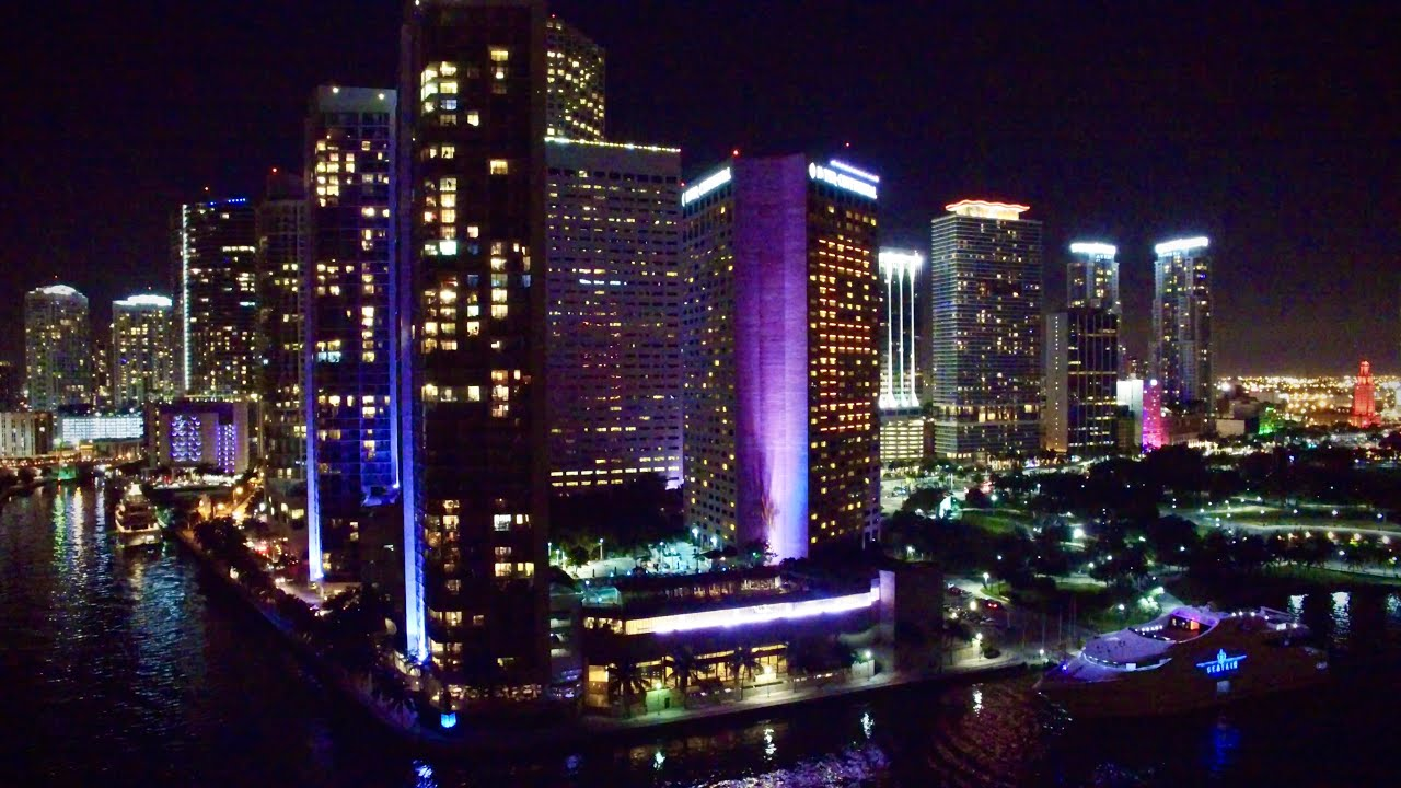 Hong Kong House Awesome Miami Florida At Night Aerial 4k Drone Youtube