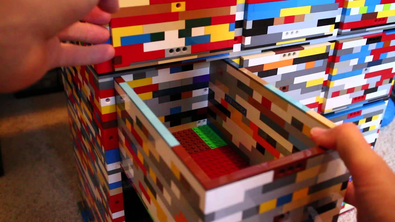 Lego Storage Container Made From Legos Youtube