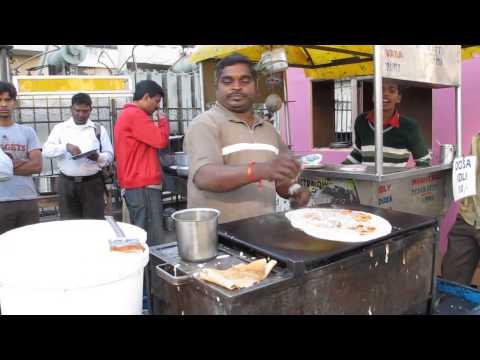 hyderabad-street-food:-making-dosa