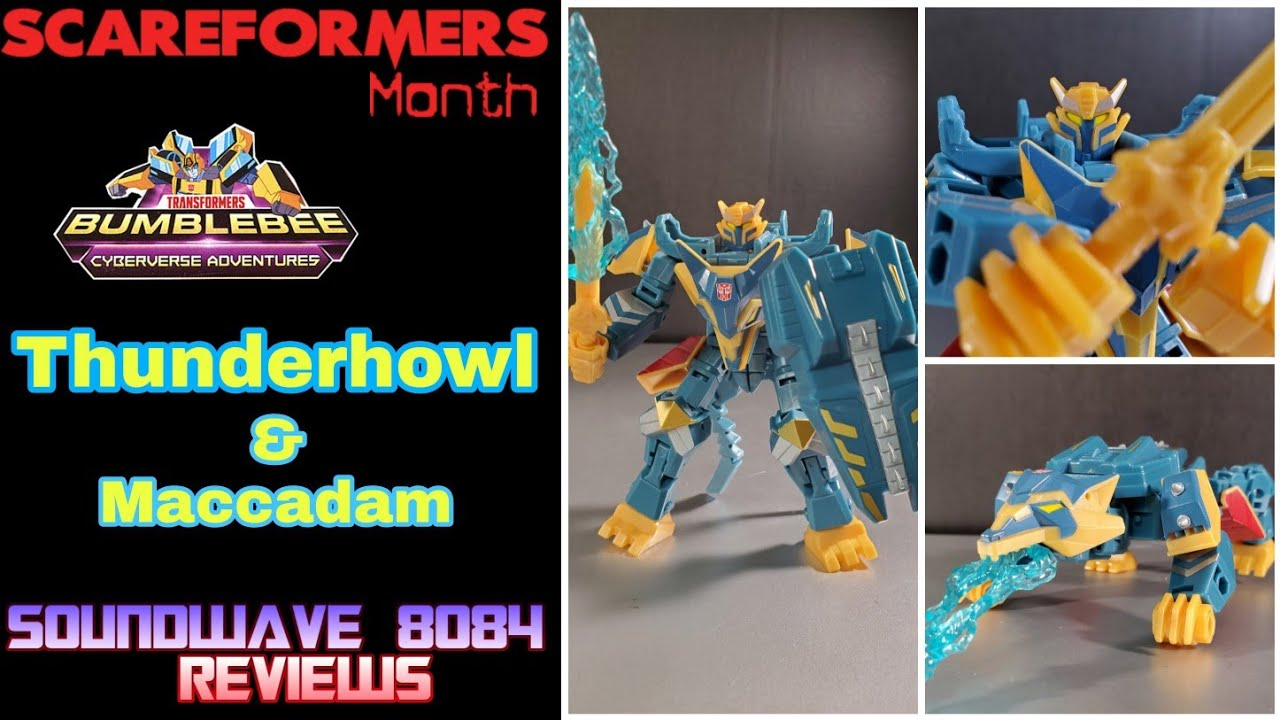Transformers Cyberverse Adventures Thunderhowl and Maccadam Review By Soundwave 8084