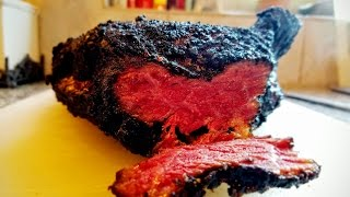 Smoked Pastrami on the Big Green Egg (curing-to-smoking instructions)