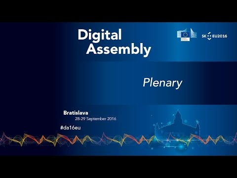 Digital Assembly 2016 Plenary: Live Stream
