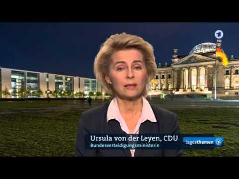 Interview Pinar Atalay mit Ursula von der Leyen in ARD tagesthemen zu Kampf gegen IS