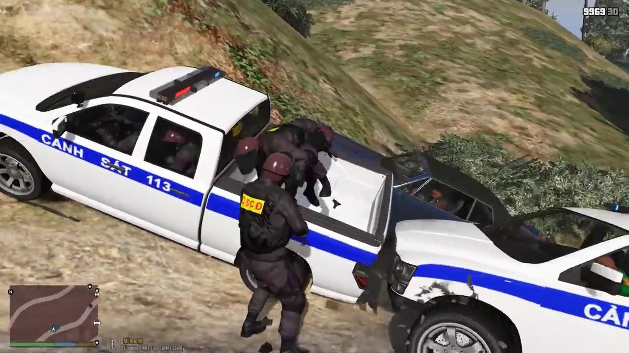 GTA 5 LSPDFR – Tập 9 – CSCĐ tuần tra và triệt phá băng nhóm khủng bố trong thành phố | ND Gaming