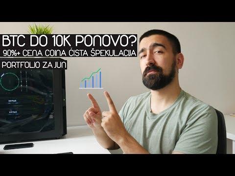 BTC 10K PONOVO? 90% CENE COINA ŠPEKULACIJA | Portfolio Za Jun