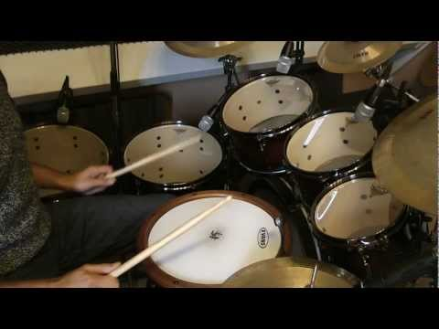 Drums tuned using a tune-bot