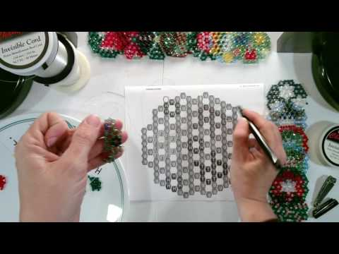 Crystal Bead Ornament Beading Tutorials - Part 1 of 2