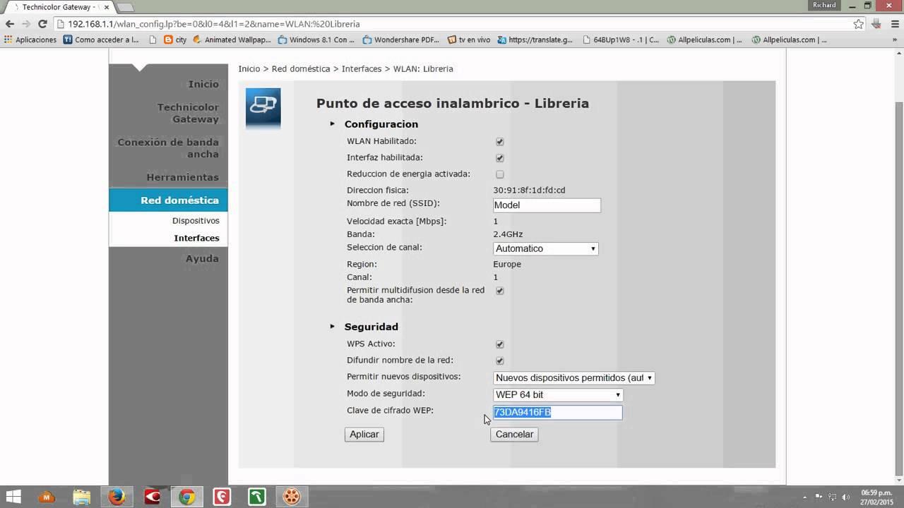 cambiar clave wifi router technicolor claro nicaragua by