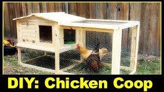For more information such as a cut list and materials used visit: http://www.simplyeasydiy.com/2014/06/diy-small-backyard-chicken-