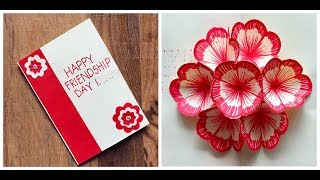 3D Flower pop up card | Friendship Day greeting card | Handmade Card