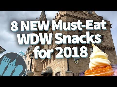 8 NEW Must-Eat Walt Disney World Snacks for 2018!
