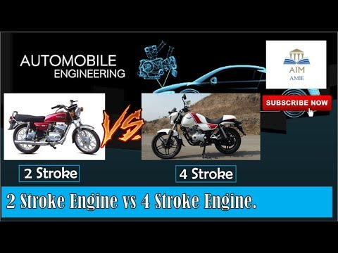 Two Stroke Engine Vs Four stroke Engine.  ||Engineer's Acade