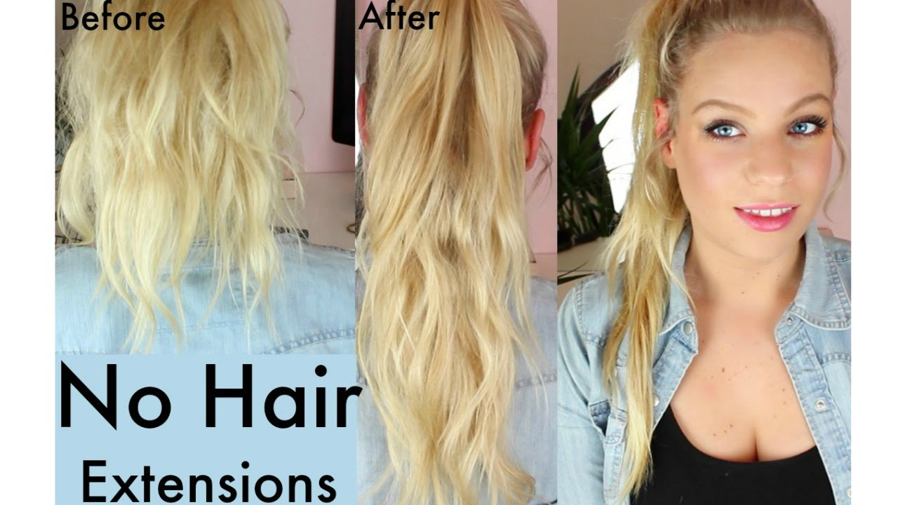 How To Get Long Hair Without Using Hair Extensions Ponytail
