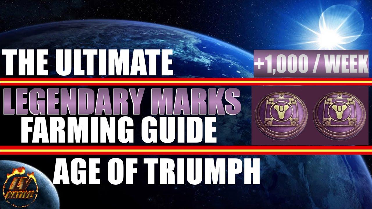 Destiny Legendary Mark Farming Guide