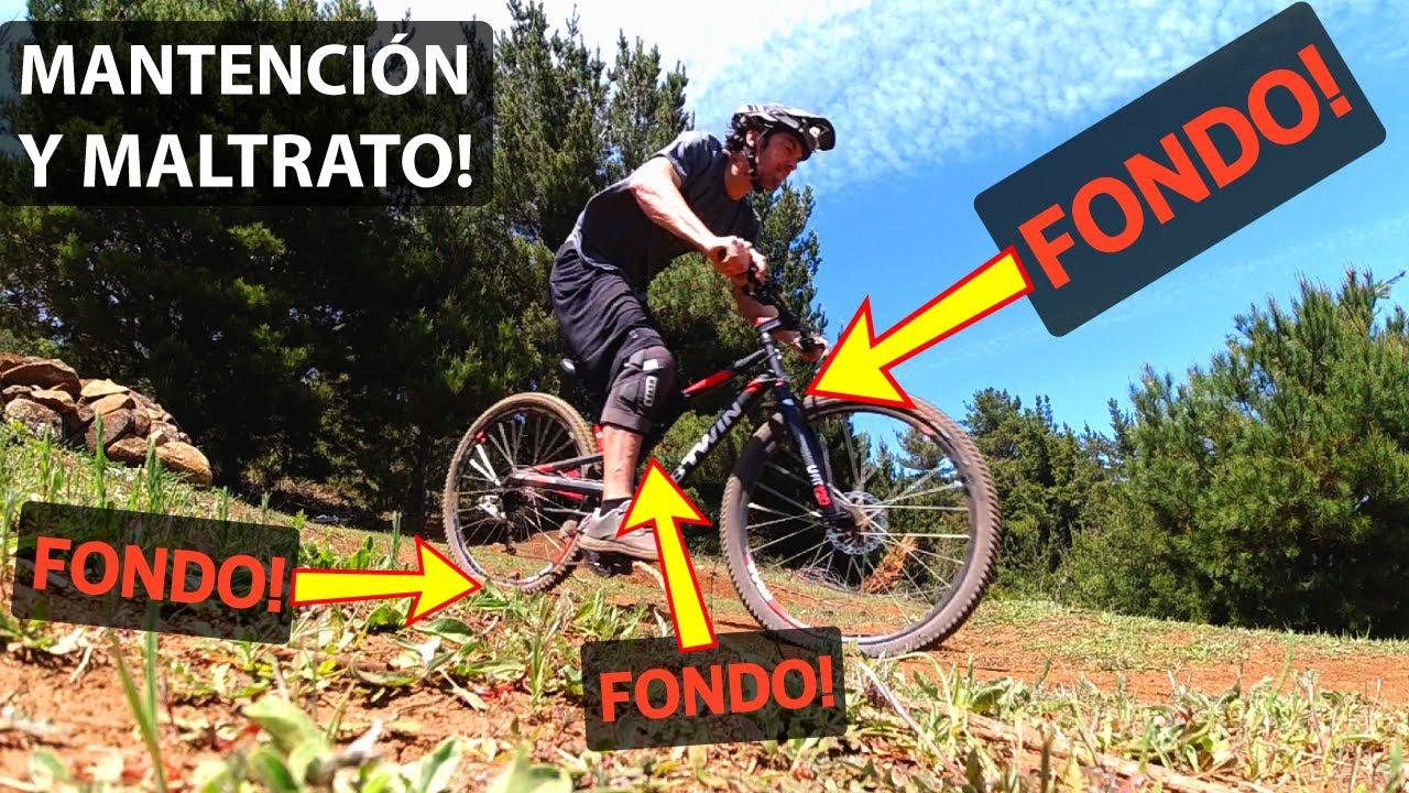 Intentando Destruir una Bicicleta Económica Doble Suspensión! Btwin #3!