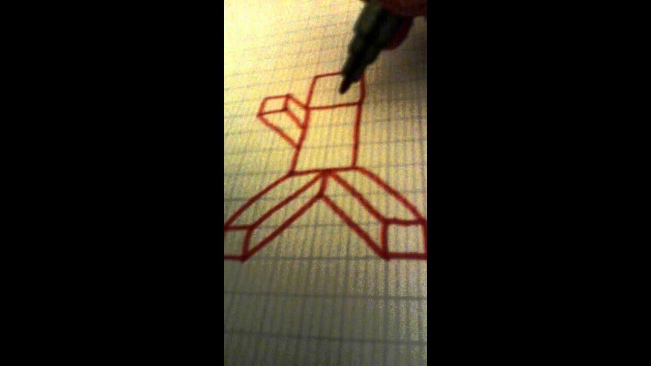 Fait Du Minecraft Sur Une Feuille A Carreau - Youtube-9462