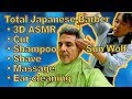 [Japanese 3-D ASMR] Izumi Sun Wolf Barber: Shampoo, Shave, Ear-cleaning, Massage