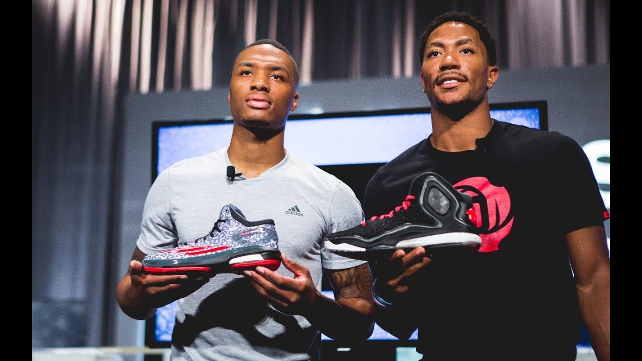 6fad37b8b40 Interview  Derrick Rose and Damian Lillard launch the adidas D Rose ...