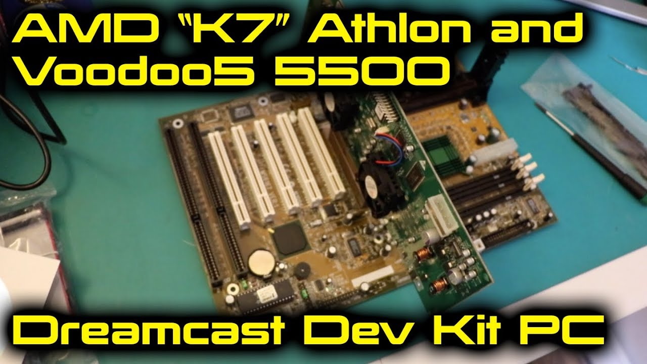 Amd K7 Athlon And Voodoo5 5500 Dreamcast Dev Kit Pc Youtube