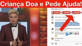 Criança doa grana alta na Live do Felipe Neto, e depois me pede ajuda! Como Paguei um Super Chat. thumbnail