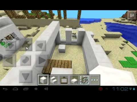 Como hacer una casa moderna en minecraft pe 0 8 1 youtube for Casa moderna minecraft 0 11 1