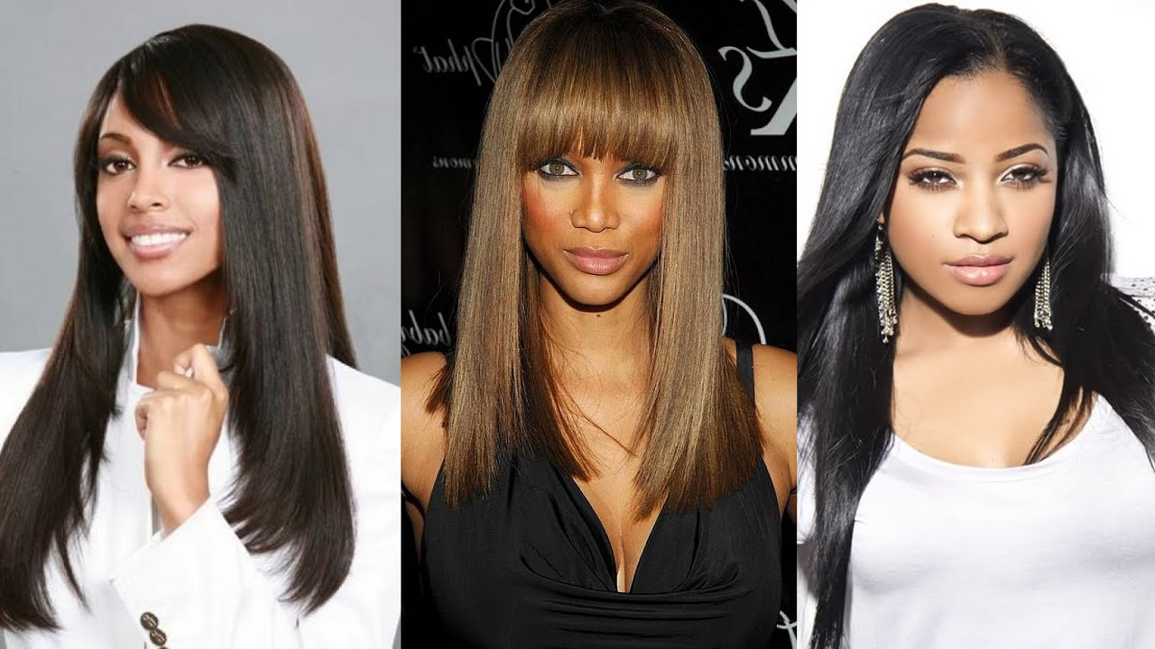 25 Best Long Straight Hairstyles for Black Women - YouTube