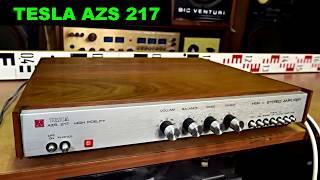 Tesla AZS 217 stereo zesilovač amplifier
