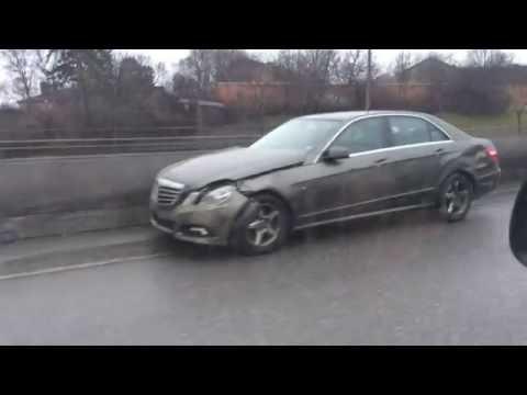 Car crash in  Stockholm