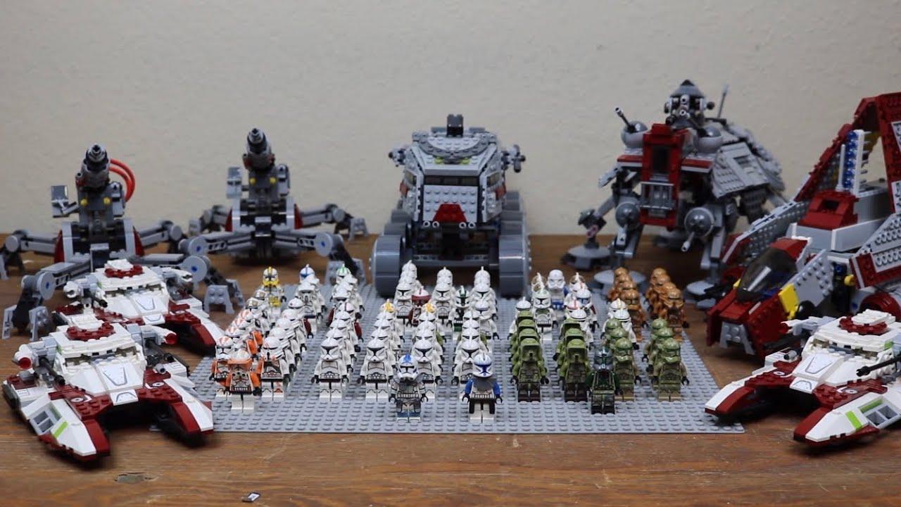 my lego star wars clone army  2020 update  youtube