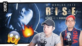 GUYS REACT TO 'RISE' Remix ft. BOBBY (바비) of iKON | Worlds 2018 - League of Legends