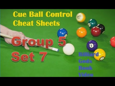 Cue Ball Control Cheat Sheets, Group 5, Set 7