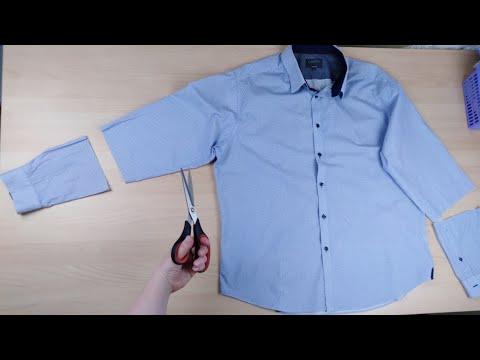 Как сшить рубашку женскую из мужской рубашки