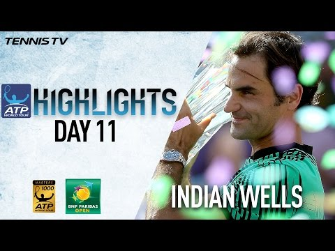 Highlights: Federer Beats Wawrinka For The The Indian Wells Title