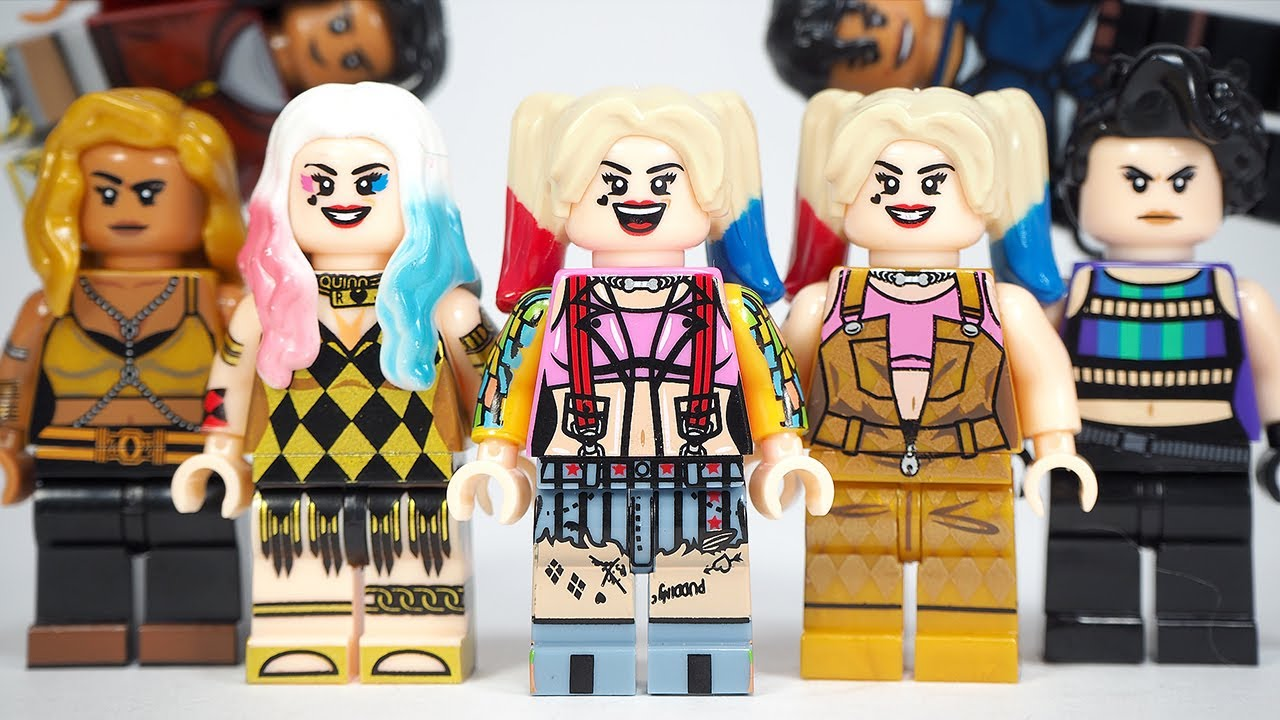 Harley Quinn Birds Of Prey Suicide Squad Dc Harley Quinn Unofficial Lego Minifigures Youtube