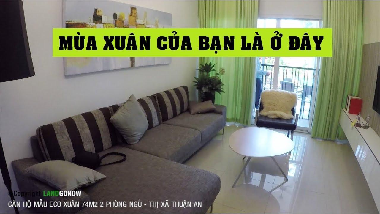 Căn hộ mẫu Eco Xuân 74m2 2 phòng ngủ, Thuận An, Bình Dương – Land Go Now ✔