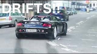 TWO Straight-Piped Carrera GTs cause CHAOS in London: CRAZY Powerslides and Tunnel Runs!!