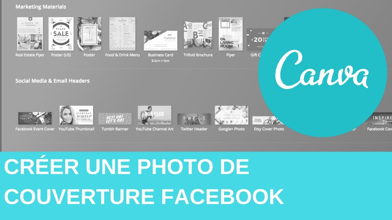 cr u00c9er une photo de couverture facebook avec canva