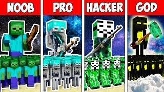 Minecraft Noob Vs Pro Vs Hacker Vs God Monster Army Battle Adventure In Minecraft  Animation