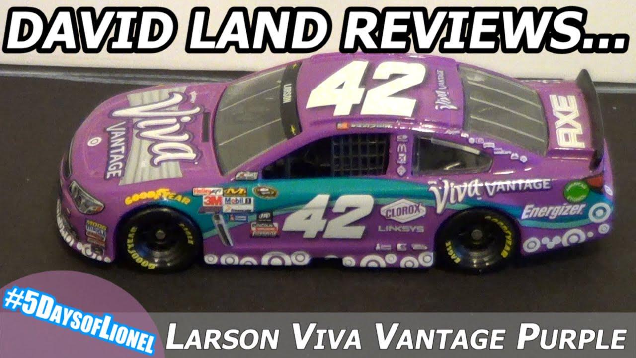 Lionel NASCAR 164 Scale Diecast Review Kyle Larson Viva Vantage Purple 42 Chevy 5DaysofLionel