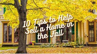 Autumn Home Selling Tips
